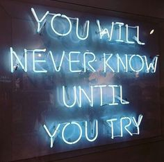 [New] The 10 Best Inspirational Quotes Today (with Pictures) - Provarci sempre . The Words, Neon Words, Light Blue Aesthetic, Neon Aesthetic, Quote Aesthetic, Aesthetic Pictures, Aesthetic Clothes, Neon Wallpaper, Wallpaper Quotes