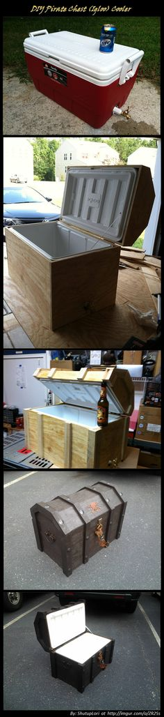 DIY Pirate Chest from an Igloo Cooler