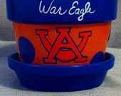 painted clay pots Auburn - Google Search