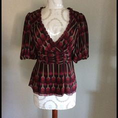 Nanette lepore silk top Beautiful silk top! Great condition no holes rips or stains! Nanette Lepore Tops Blouses