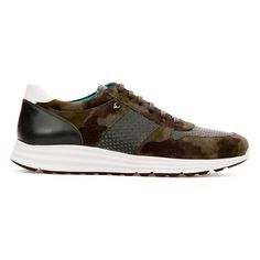 5c1a8626c0a6b6 Chase - Khaki Camouflage & Green - Calf Suede & Leather Runner - BUB