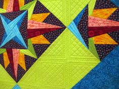 Green Fairy Quilts--the detail in the quilting is amazing