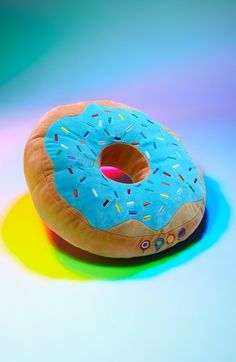 Dylan's Candy Bar Donut Pillow. Come home to sweet dreams after a killer warehouse rave by resting your head on this super-plush, sugary confection pillow. Go ahead, give it a squeeze. It feels good, donut?