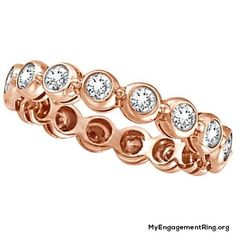 gold eternity engagement ring - My Engagement Ring