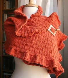 Rococo Knit Shawl by TickledPinkKnits