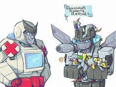 """Dinosaur Robots, Ratchet."""