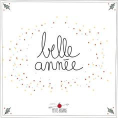 Bonne Année - Illustrations - Petits Béguins Deco Nouvel An, New Year Wishes, Christmas Is Coming, New Years Eve Party, Merry Xmas, Travelers Notebook, Journal Inspiration, Words Quotes, Aesthetic Wallpapers