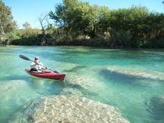 Devil's River in Del Rio, Texas is one of the best places to kayak in the state. Texas Vacations, Texas Roadtrip, Texas Travel, Vacation Trips, Vacation Places, Vacation Destinations, Day Trips, Places To Travel, Places To Visit