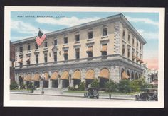 SHREVEPORT LOUISIANA UNITED STATES POST OFFICE VINTAGE POSTCARD LA.