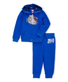 Look at this #zulilyfind! Sapphire Hello Kitty Hoodie & Sweatpants - Toddler & Girls #zulilyfinds
