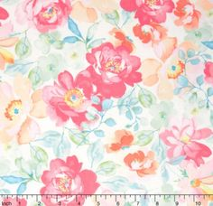 1 Yard fabric  Sweet Baby Rose  Rose Multi Yardage by Dover
