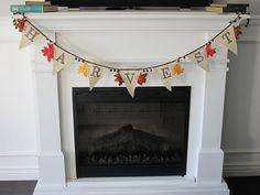 Fall burlap banner