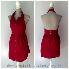 50's Inspired Dress from a man's shirt