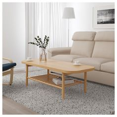 LISTERBY Coffee table - white stained oak - IKEA