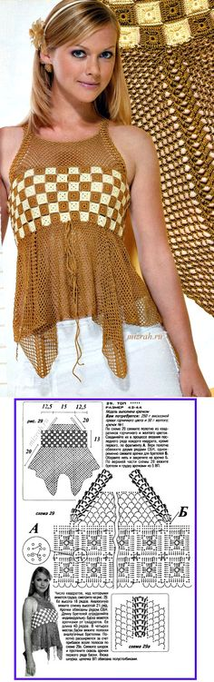 easy and pretty crochet top!                                                                                                                                                      Mais