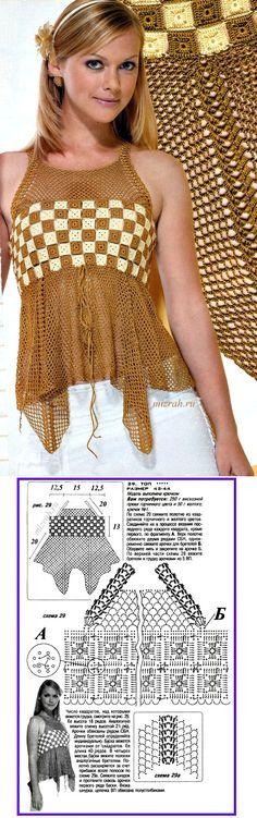 easy and pretty crochet top!                                                                                                                                                      Mais