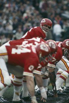 Super Bowl IV Kansas City 23 Minnesota 7 Len Dawson & the Kansas City Chiefs offensive line.