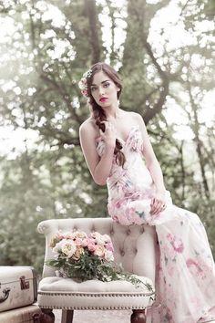 30 Gorgeous Floral Wedding Dresses | HappyWedd.com