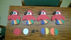parrot themed door decs