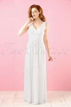Little Mistress White Empire Dress