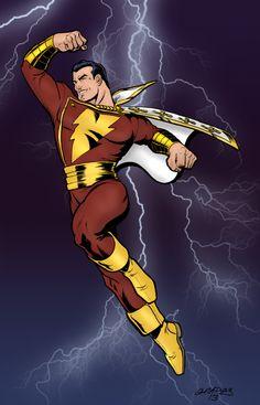 Shazam Dc Comics, Arte Dc Comics, Dc Comics Superheroes, Dc Comics Characters, Original Captain Marvel, Captain Marvel Shazam, Marvel E Dc, Comic Book Publishers, Comic Books Art