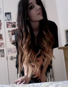 Dark Brown, To Light Brown, To Blonde Ombre Hair.