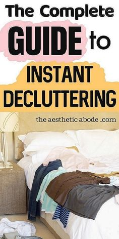 Click through to find some super easy decluttering tips to see instant results. Instantly declutter your home with these simple decluttering tips and tricks. If you feel overwhelmed with decluttering, click through to find out some easy ways for fast decluttering. These are some simple decluttering tips for when you feel stuck and don't have enough time to carry out the decluttering tasks. #declutter #organize #declutteringtips #declutteringhacks #organization
