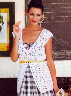 Белая туника. Модели для женщин, связанные крючком Crochét top
