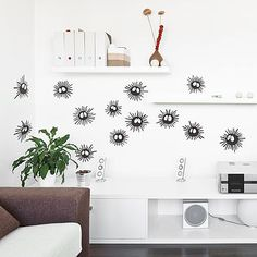 Wall sticker of the Soot Sprites from Spirited Away and My Neighbour Totoro! Their eyes glow in the dark too!