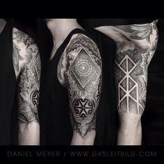 Mandala 1/2 sleeve on @khukri #mandala #sleeve #tattoo #dotwork #runes #tattoo #picoftheday #tattooartistmagazine #stencilstuff #tattoodo #germantattooers #blacktattoomag #theinkedlife #leitbild