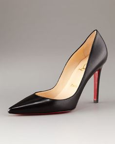 Christian Louboutin basic black stiletto pumps. EVERY woman needs a classic black pump.