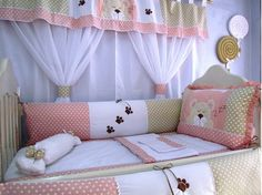 Curtain style is cute Baby Bedding Sets, Crib Sets, Crib Bedding, Baby Boy Dress, Kit Bebe, Baby E, Kids Room Design, Baby Bedroom, Nursery Room