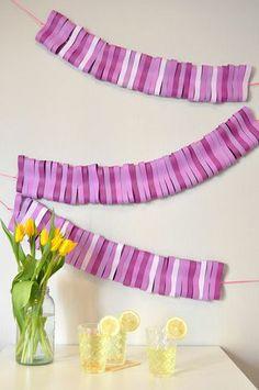 Homemade Paper garlands