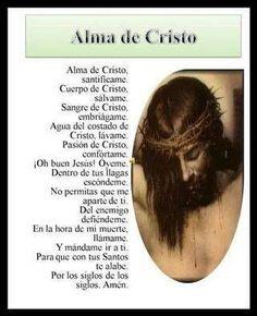 Rosary Prayer, God Prayer, Prayer Verses, Prayer Quotes, Holy Monday, Catholic Prayers In Spanish, Anima Christi, Prayer Images, Catholic Religion