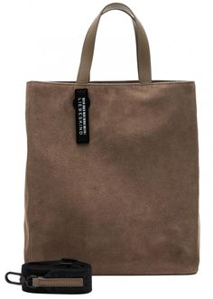 Kurzgrifftasche Paperbag Tote M Liebeskind grau Veloursleder - Bags & more