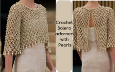 Crochet Bolero adorned with Pearls | Crochet Patterns and Tutorials