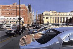 Looking East from 8th Avenue - by Richard Estes