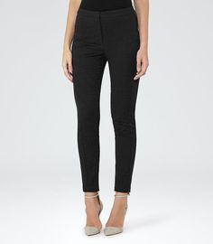 REISS - DARLA JACQUARD SKINNY TAILORED TROUSERS 165