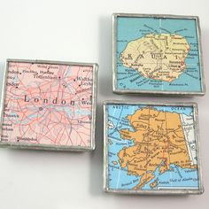 Custom Map Soldered 2-inch Magnet - Choose a location by XO Handworks $17