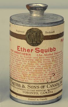 March 30th is the anniversary of the use of Ether in medicine - this can of ether was never opened.