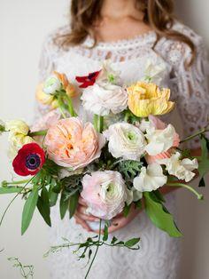 loose organic flowers