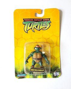 2003 Playmates Toys Tmnt Teenage Mutant Ninja Turtles Michelango Action Figure #PlaymatesToys