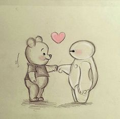 Disney art drawings sketches pooh bear ideas for 2019 Easy Disney Drawings, Cool Art Drawings, Pencil Art Drawings, Art Drawings Sketches, Kawaii Drawings, Cartoon Drawings, Easy Drawings, Animal Drawings, Cute Drawing Pictures
