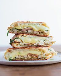 Chicken Panini with Spinach and Pesto Recipe - Delicious, quick, and easy. I used 3 chicken breasts instead of rotisserie chicken.