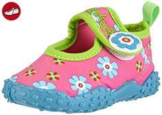 Playshoes Badeschuhe Blumen mit höchstem UV-Schutz nach Standard 801 174759, Mädchen Aqua Schuhe, Pink (original 900), 26/27 EU (*Partner-Link)