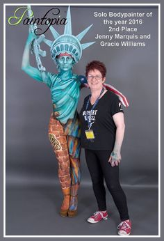 Placed 2nd out of an international group of 27 entrants at Paintopia Body Painting festival. Image David Cook Model Grace Williams Body paint and head dress Jenny Marquis brushstrokes Body Art #Paintopia #body #paint #model #concept #design #art #Statue  #Liberty #Urban #Jungle #gangs #Jenny Marquis #brushstrokes #USA