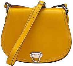 Floto Women's Saddle Bag in Yellow Italian Calfskin Leather - #handbag #shoulderbag   #forsale More at: https://twitter.com/TheMarketer2015/status/614328873707302913/photo/1