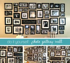 BIG photo gallery wall!