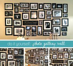 BIG photo gallery wall!