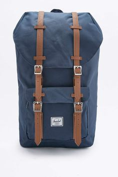 Herschel Supply co. Little America Navy and Tan Backpack